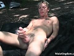 Horny Guy Jerking His Massive Cock Part4