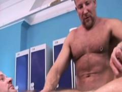 Mature Gay Beefcake Massages Pals Cock