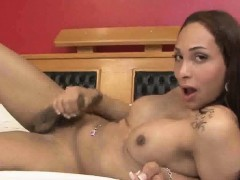 Shemale Babe Bianka Theles Playing With Her Cock