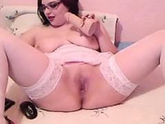 busty-nerd-fingering-her-pussy