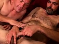 Straight Bear Receives A Creamy Facial