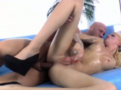 Curly Tgirl Cassie Gets Her Ass Pounded