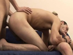 Gay Friends In Threesome Sex