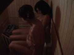 2 girls spied on in public sauna room PORNO XXX