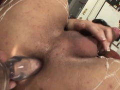 Pounding Tgirl Ass Toyed