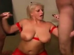 Busty Blonde Woman Fucks And Swallows
