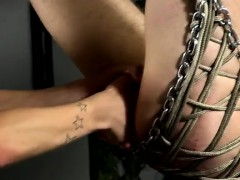 Hot Gay Sex Aiden Is Blindfolded And Swinging, Tied Into The