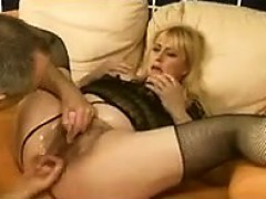 blonde-with-a-soaking-wet-hairy-pussy