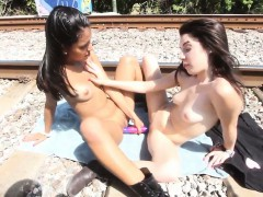Allison Banks Public Lesbian Teen Sex Let's Run A Train