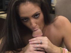Brunette Sucking Dick In Pawn Shop Office Point Of View