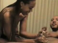 Hot And Horny Ebony Couple Doing It