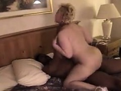 Fat White Woman On His Large Dark Cock