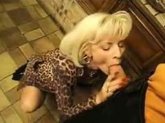 Blonde GILF Anal Fucked In A Kitchen Cuckold