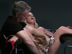 fake-big-tits-blonde-sub-zippered-in-gyno-chair