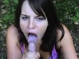 Cute Girl Sucking Some Cock In Nature