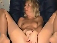 Sexy Grandma Fingers Her Beautiful Pussy