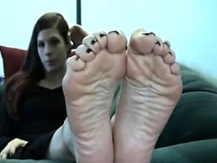 Wife Showing Her Beautiful Soles Up Close
