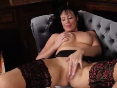 horny-milf-in-stockings-fingers-her-pussy