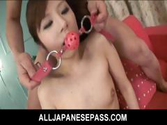 Amu Kosaka Asian Model Gets Her Hairy Pussy Fingered