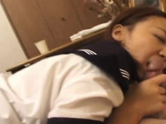 Cute Japanese Lady Getting That Hairy Cunt Fucked By Her Man