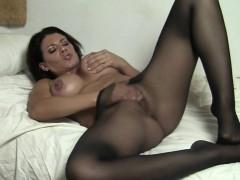 Leena masturbates in wolford pantyhose mobile porn
