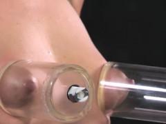 Nipple Pumped Skank Being Humiliated