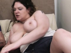 Curly Haired Chubby Gf Takes Big Cock