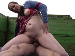 German milf mother sedcue to fuck outdoor by