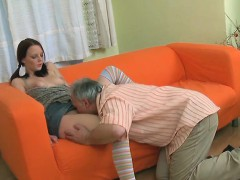 Beautiful Young Hottie Gets Banged From Behind By Old Guy