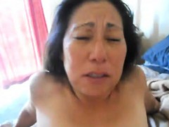 Asian Mature Gets Her Squirting Pussy Fisted