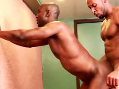 Muscular Ebony Assfucked Up Against The Wall