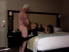 Lucky Grandpa Scored A Naughty Teen Chick