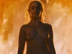 emilia clarke fiery boobs