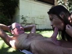 Young Girl Fucks An Old Man