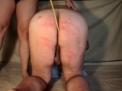 Perverted Guy That Is Captive Is Acquiring Butt Caned