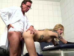 Blonde Patient Gets A Fucking From Two Old Guys