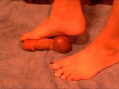 Hubby Sticks His Junk Through A Cock Board For The Wife To