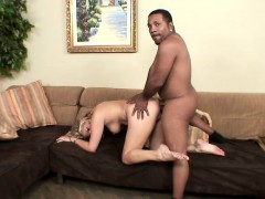 Buxom Blonde Embarks On A Quest To Reach Her Climax With A Black Guy