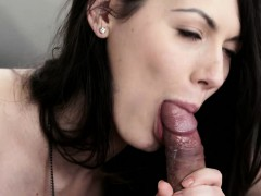 Blonde Slut Sarah Highlight Sucks Cock