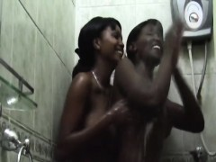 african-lesbians-stellah-kerry-foreplay-in-the-bathroom