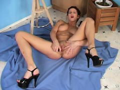foxy-iveta-fingers-her-trimmed-twat-and-shoves-in-a-dildo-to-get-off