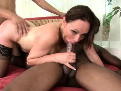 Luscious Wife In Stockings Indulges In A Torrid Interracial Threesome