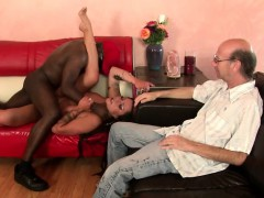 Lustful Husband Watches A Black Bull Roughly Fucking His Stacked Wife