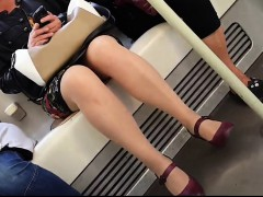 irresistible-young-woman-gets-her-curvy-legs-caught-on-hidd