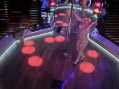 Tight bodied Stripper Slowly Undresses And Dances Around Th