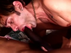 Interracial Gay Lovers Hammering Each Other's Sweet Asses On The Bed