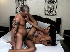 Brazilian Tranny Alessandra Ribeiro Feeds Her Hunger For Bareback Sex