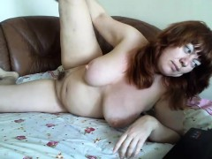 chunky-redhead-housewife-shows-off-her-hot-curves-and-her-s