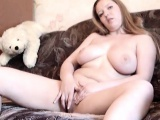 Couch solo Chubby redhead Kyra from wales