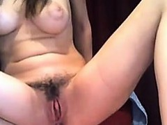hairy-puffy-nipples-ohmibod-dildo-in-ass